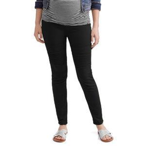 Liz Lange Maternity Black Skinny Moto Jeans NWT